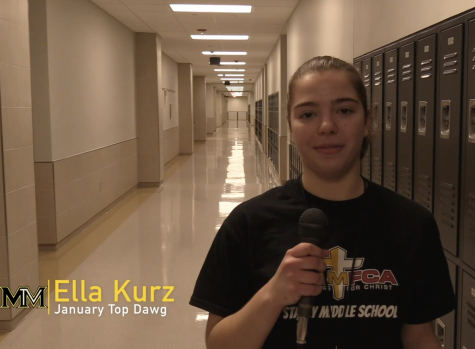 "Congratulations Ella Kurz! The MHS ""Top Dawg"" of January"