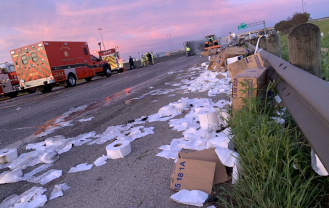 Truck carrying 2020's equivalent of gold crashes onto highway