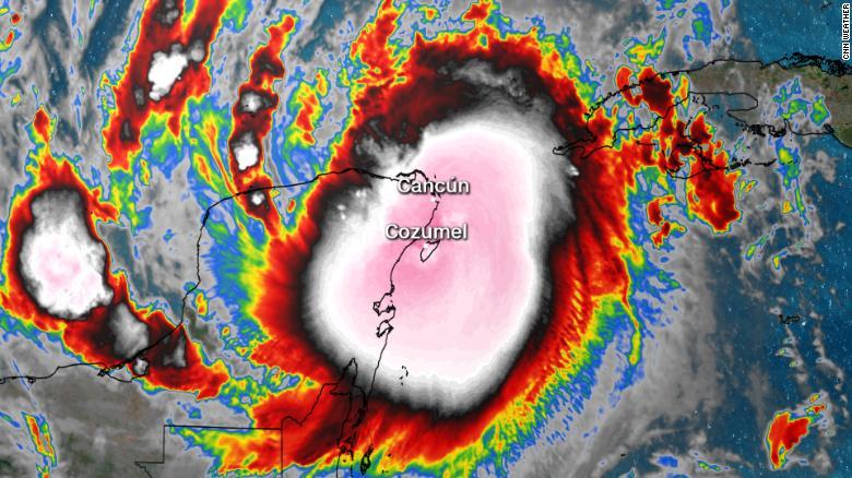Hurricane Delta slams into Mexicos Yucatan Peninsula and heads toward the US Gulf Coast