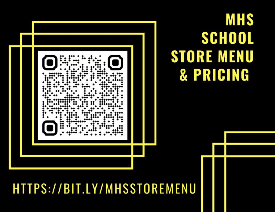 MHS School Store Menu