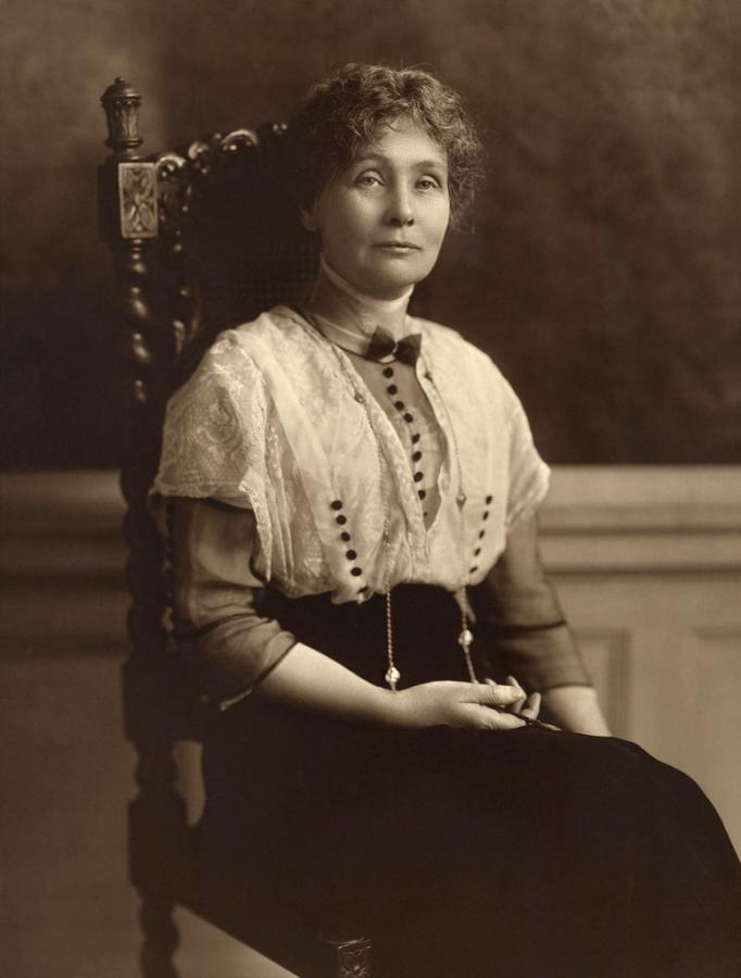 Emmeline Pankhurst, Political activist for women's suffrage
