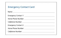 The importance of carrying a Case of Emergency card